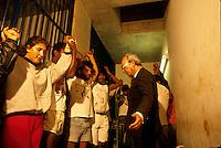 Rural leaders of MST ( Movimento Sem Terra / Landless Movement)) in jail. Community organizing for land reform. City: Dourados; State: Mato Grosso do Sul; Brazil.