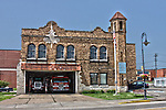 Village of Menomonee Falls Wisconsin Fire Station 1 built in 1929 on Appleton Avenue.  HDR image