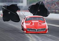 May 1, 2016; Baytown, TX, USA; NHRA pro mod driver Shane Molinari during the Spring Nationals at Royal Purple Raceway. Mandatory Credit: Mark J. Rebilas-USA TODAY Sports