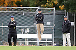 28 October 2012: UNC head coach Anson Dorrance with assistants Cindy Parlow Cone and Bill Palladino (right). The University of North Carolina Tar Heels played the University of Virginia Cavaliers at Fetzer Field in Chapel Hill, North Carolina in a 2012 NCAA Division I Women's Soccer game. Virginia defeated UNC 1-0 in their Atlantic Coast Conference quarterfinal match.