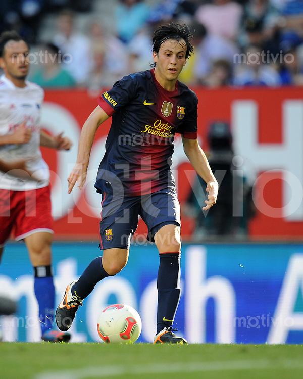 FUSSBALL   1. BUNDESLIGA   SAISON 2012/2013   TESTSPIEL  Hamburger SV - FC Barcelona            24.07.2012 Javier Espinosa (FC Barcelona) Einzelaktion am Ball