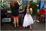 "CeCe takes her lasat smoke as a ""free woman"" while waiting for her groom Crazy to return with their minister. They have their homeless street wedding amongst friends at the Salmon Springs Fountain.."