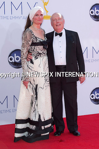 "JULIAN FELLOWES AND WIFE EMMA KITCHENER - 64TH PRIME TIME EMMY AWARDS.Nokia Theatre Live, Los Angelees_23/09/2012.Mandatory Credit Photo: ©Dias/NEWSPIX INTERNATIONAL..**ALL FEES PAYABLE TO: ""NEWSPIX INTERNATIONAL""**..IMMEDIATE CONFIRMATION OF USAGE REQUIRED:.Newspix International, 31 Chinnery Hill, Bishop's Stortford, ENGLAND CM23 3PS.Tel:+441279 324672  ; Fax: +441279656877.Mobile:  07775681153.e-mail: info@newspixinternational.co.uk"