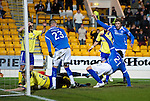 St Johnstone v Kilmarnock..28.12.11   SPL .Fran Sandaza slides in to score his first goal.Picture by Graeme Hart..Copyright Perthshire Picture Agency.Tel: 01738 623350  Mobile: 07990 594431