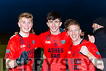 Daniel Griffin, Jack Brosnan and Pa Kilkenny Glenbeigh/Glencar celebrates  after defeating Gabrel Rangers in the Munster Junior cup final in Mallow on Sunday