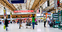 Victoria Station in London, England.