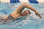18 February 2016: Notre Dame's Molly Treble competes in the Women's 500 Freestyle preliminary Heat 4. The 2016 Atlantic Coast Conference Swimming and Diving Championships were held at the Greensboro Aquatic Center in Greensboro, North Carolina from February 17-27, 2016.