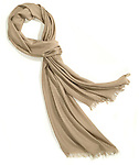 brown scarf with fringe