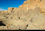 North Plaza and Kivas, Pueblo Bonito Chacoan Great House, Anasazi Hisatsinom Ancestral Pueblo Site, Chaco Culture National Historical Park, Chaco Canyon, Nageezi, New Mexico