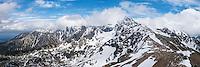 View towards Swinica (2301 m) from Beskid (2014 m), Tatra mountains, Poland