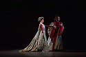 London, UK. 17.04.13. Canada's premier dance company The National Ballet of Canada returns to London after 26 years with its new production of Romeo and Juliet, which was created in 2011 to mark the company's 60th anniversary. Picture shows: Alejandra Perez-Gomez (Lady Capulet) and Etienne Lavigne (Lord Capulet). Photograph © Jane Hobson.