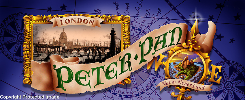 One of a series of drop designs for this classic musical. For Kenmark Scenic Backdrops, Inc.