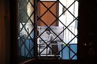 CorpusTRIP ,esposizione in un cortile del quartiere di San Lorenzo a Roma. ..CorpusTRIP è un progetto itinerante, esposizione temporanea, in diverse città , evento di una sola notte in uno spazio non specificatamente adibito, occupato o abbandonato. E' il lavoro fotografico di ritratti in bianco e nero ,di  Luca Donnini..CorpusTRIP is a touring exhibition, temporary exhibitions, in different city, an event one night in a space not specifically used, occupied or abandoned. It's the photographic work of black and white portraits of Luca Donnini..