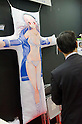 February 8th, 2012 : Tokyo, Japan &ndash; Big pillow shaped like anime character is displayed for The 73rd Tokyo International Gift show 2012 at Tokyo Big Sight. There are over 3 million items including gift products and everyday goods. 2500 exhibitors showcase their unique products. This exhibition is held from February 8 to 10. (Photo by Yumeto Yamazaki/AFLO).
