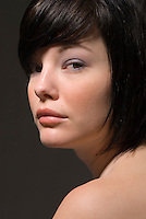 Portrait of young Caucasian woman
