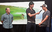 TOM CARROLL (AUS) with ADAM BLAKEY (AUS)  present JULIAN WILSON (AUS) with the award for The Junior Surfer of The Year at the Australian Surfing Awards incorporating The Hall Of Fame, Tuesday March 3rd 2009  held at Twin Towns, Coolangatta, Queensland, Australia ,   Photo: joliphotos.com