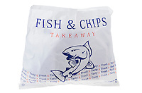 Bag of Takeaway Fish and Chips - Jan 2014.