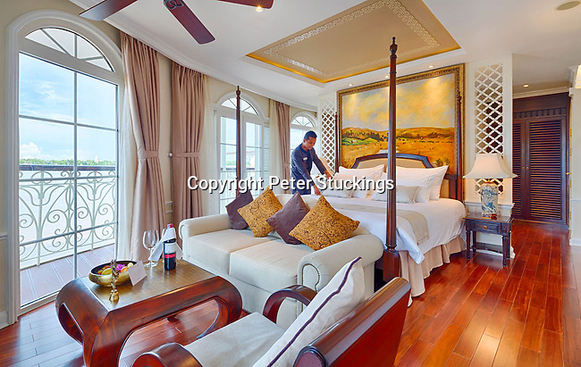 Interior of Mekong Navigator cruise ship, for Haimark