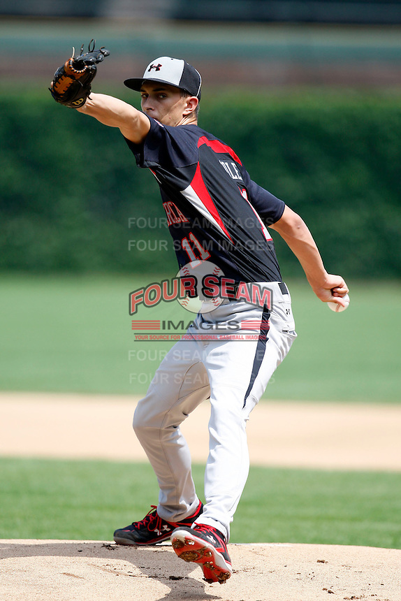 August 8, 2009:  Pitcher A.J. Cole (11) of the Baseball Factory team during the Under Armour All-America event at Wrigley Field in Chicago, IL.  Photo By Mike Janes/Four Seam Images