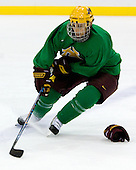 Mike Howe (Minnesota 24) takes part in the Gophers' morning skate at the Xcel Energy Center in St. Paul, Minnesota, on Friday, October 12, 2007, during the Ice Breaker Invitational.