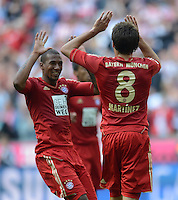 FUSSBALL   1. BUNDESLIGA  SAISON 2012/2013   3. Spieltag FC Bayern Muenchen - FSV Mainz 05     15.09.2012 Jerome Boateng und Javier Martinez (v.li., FC Bayern Muenchen)