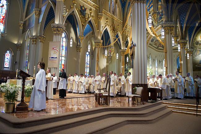 April 14, 2012; Ordination Mass of Rev. Matthew Kuczora, C.S.C. in the Basilica of the Sacred Heart. Photo by Barbara Johnston/University of Notre Dame