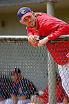 14 March 2006: John Patterson, pitcher for the Washington Nationals, awaits the start of a Spring Training game against the Florida Marlins. The Marlins defeated the Nationals 2-1 at Space Coast Stadium, in Viera, Florida...Mandatory Photo Credit: Ed Wolfstein..