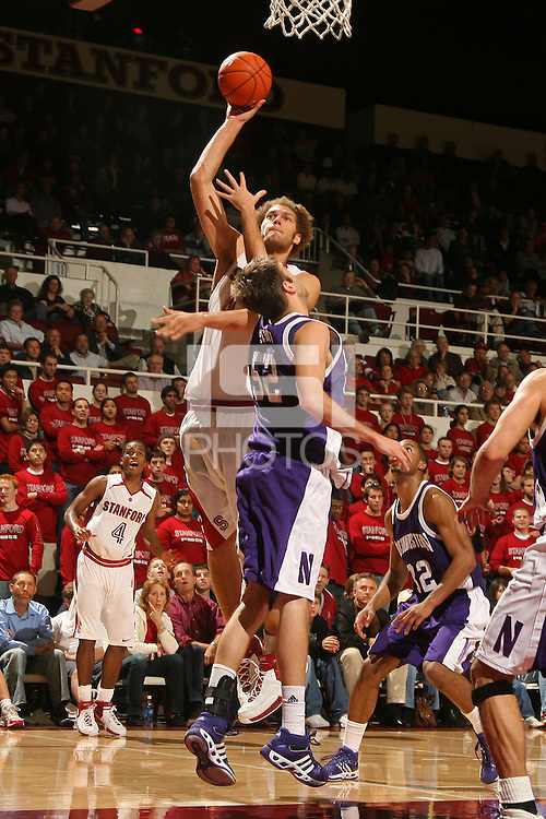 17 November 2006: Stanford Cardinal Robin Lopez during Stanford's 58-53 win against the Northwestern Wildcats at Maples Pavilion in Stanford, CA.