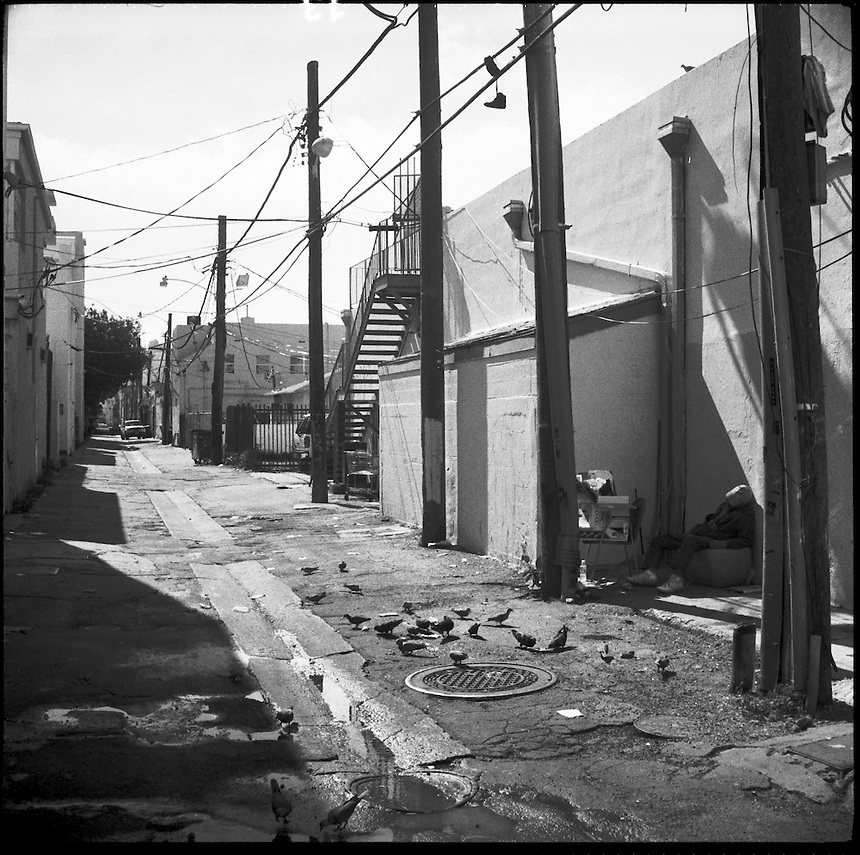In the alley<br />