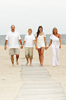 23 June 2012:  Eric, Nicki, Hannah Bechtol and Caden Wechsler during family photo session in Ft. Lauderdale, Florida during stormy weather. 23 June 2012: Eric, Nicki, Hannah Bechtol and Caden Wechsler in Ft. Lauderdale, Florida for family photo session at the beach.