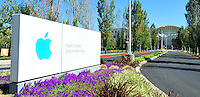 Sept. 6, 2011 - Cupertino, California - U.S. - Apple Inc. world headquarters Monday September 5, 2011. Apple is one of the worlds most valuable companies by market capitalization and recently eclipsed Exxon Mobile with a Market worth of about $349.32 billion. Iconic CEO Steve Jobs resigned on August 24, 2011, and the Board named Tim Cook, previously Apple's Chief Operating Officer, as the company's new CEO. (Credit Image: Alan Greth/ZUMAPress.com).