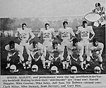 Bethel Park PA:  Offensive Backs and Receivers for the 1970 Bethel Park High School Football Team.  Chip Huggins (RB), Mike Gomber (RB), Mike Seley (RB/FL), Jeff Tate (RB), Vic Tedesco (FB), Clark Miller (FB), Mike Stewart (RB), Scott Streiner (QB), Gary Biro (TE).  The 1970 team had more players winning 4-years scholarships than any other class. Division 1:  Dennis Franks (Michigan), Mike Stewart and Joe Barrett (William & Mary), Scott Streiner and Glenn Eisaman (Cincinnati), Division 2: Jim Dingeldine (West Liberty), Clark Miller (Clarion).