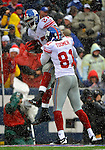 23 December 2007: New York Giants running back Brandon Jacobs (27) celebrates scoring a touchdown against the Buffalo Bills at Ralph Wilson Stadium in Orchard Park, NY. The Giants defeated the Bills 38-21. ..Mandatory Photo Credit: Ed Wolfstein Photo