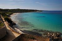 Isola di Pianosa.Pianosa Island.Pianosa. La spiaggia cala San Giovanni. The beach drops St. John.