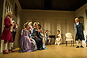 THE SCHOOL FOR SCANDAL opens the Theatre Royal Bath's summer season of new in-house productions, overseen by leading guest director, Jamie Lloyd. Picture shows:  David Killick (Crabtree), Timothy Speyer (Servant), Serena Evans (Lady Sneerwell), Grant Gillespie (Sir Benjamin Backbite), Maggie Steed (Mrs Candour), Susannah Fielding (Lady Teazle), Edward Bennett (Joseph Surface), Zoe Rainey (Maria) and James Laurenson (Sir Peter Teazle).