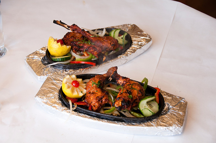 Berkeley, California: Ajanta Indian Restaurant.  Tandoori dishes.   Photo copyright Lee Foster.  Photo # california123445