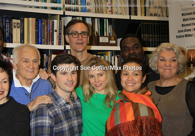 "Rehearsals for Ragtime starring One Life To Live Kerry Butler ""Claudia Reston"" (green), Dick Latessa (Edge of Night) (blue), Matt Cavenaugh (also As The World Turns ""Adam Munson"") (plaid), General Hospital Tyne Daly ""Caroline"" (right), Phillip Boykin (back right), As The World Turns Lea Salonga ""Lien Hughes"" (multi), Young and the Restless Howard McGillan ""Snapper's brother - Greg Foster"" (back L) on February 11, 2013 for a concert at Avery Fisher Hall, New York City, New York on Monday February 18, 2013. (Photo by Sue Coflin/Max Photos)"