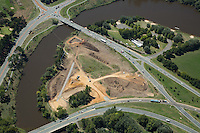 Aerial photo, Majura Parkway construction, Canberra ACT