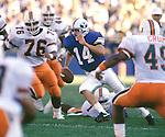 Ty Detmer  1990 opener vs Miami.<br /> <br /> 14 Ty Detmer Quarterback.<br /> <br /> Sept.  1990<br /> FTB 9009 588<br /> <br /> Photo by Mark Philbrick/BYU