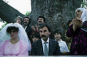 France 1990 <br /> A Kurdish wedding in Mainsat, village of Creuse  <br /> France 1990 <br /> Les maries kurdes a Mainsat, village de la Creuse