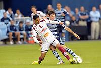 Kansas City, Kansas - Thursday, Sept. 18, 2014: Sporting Kansas City defeated Deportivo Saprissa 3-1 in a CONCACAF Champions League match at Sporting Park.