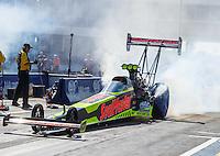 Oct 16, 2016; Ennis, TX, USA; NHRA top fuel driver J.R. Todd during the Fall Nationals at Texas Motorplex. Mandatory Credit: Mark J. Rebilas-USA TODAY Sports