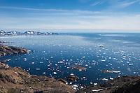 Late summer sea ice at mouth of Ammassalik Fjord, Tasiilaq, Greenland