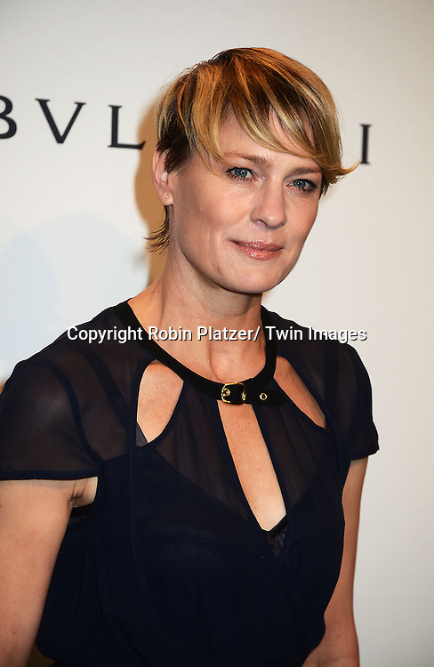 Robin Wright attends the amfAR New York Gala on February 5, 2014 at Cipriani Wall Street in New York City.