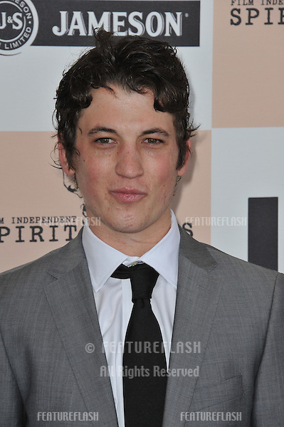 Miles Teller at the 2011 Film Independent Spirit Awards on the beach ...