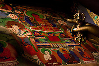 Hemis Monastery of the Drukpa lineage, dating back to the year 1630, holds the distinction of being the biggest as well as the wealthiest monastery of Ladakh..*Pre-season Jeep road trip from Delhi to Amritsar, Srinagar, Kargil, Lamayuru, Leh, Khardung La, Tso Moriri and back to Delhi in May 2010. Photo by Suzanne Lee