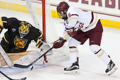 Alex Leclerc (CC - 1), Colin White (BC - 18) - The Boston College Eagles defeated the visiting Colorado College Tigers 4-1 on Friday, October 21, 2016, at Kelley Rink in Conte Forum in Chestnut Hill, Massachusetts.The Boston College Eagles defeated the visiting Colorado College Tiger 4-1 on Friday, October 21, 2016, at Kelley Rink in Conte Forum in Chestnut Hill, Massachusett.