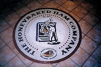 Custom mosaic retail signs - Honey Baked Ham Medallion