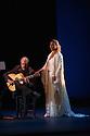 Sadler's Wells presents Esperanza Fernandez in DE LO JONDO Y VERDADERO, as part of the Flamenco Festival London 2016. Picture shows: Miguel Angel Cortes, Esperanza Fernandez.
