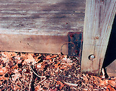 "Washington, DC - February 20, 2001 -- ""Lewis"" drop site - The far-left corner of the wooden podium (when facing the podium) located in the amphitheater of Long Branch Nature Center in Vienna, Virginia..Credit: FBI via CNP"